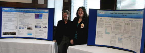 Staff members present TNSPMP and PHPMP posters