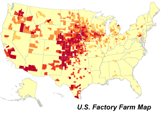 U.S. Factory Farm Map