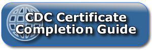 CDC Certiicate Completion Guide
