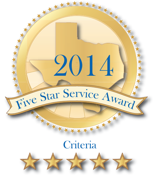 2014 Five Star Service Award Criteria