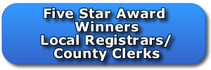 Five Star Award Winners Local Registrars and County Clerks