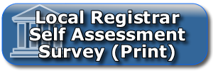 Local Registrar Self Assessment Survey Print