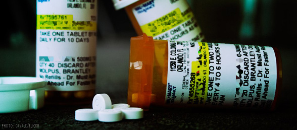 MHSA Sublanding - Prescription drug bottles
