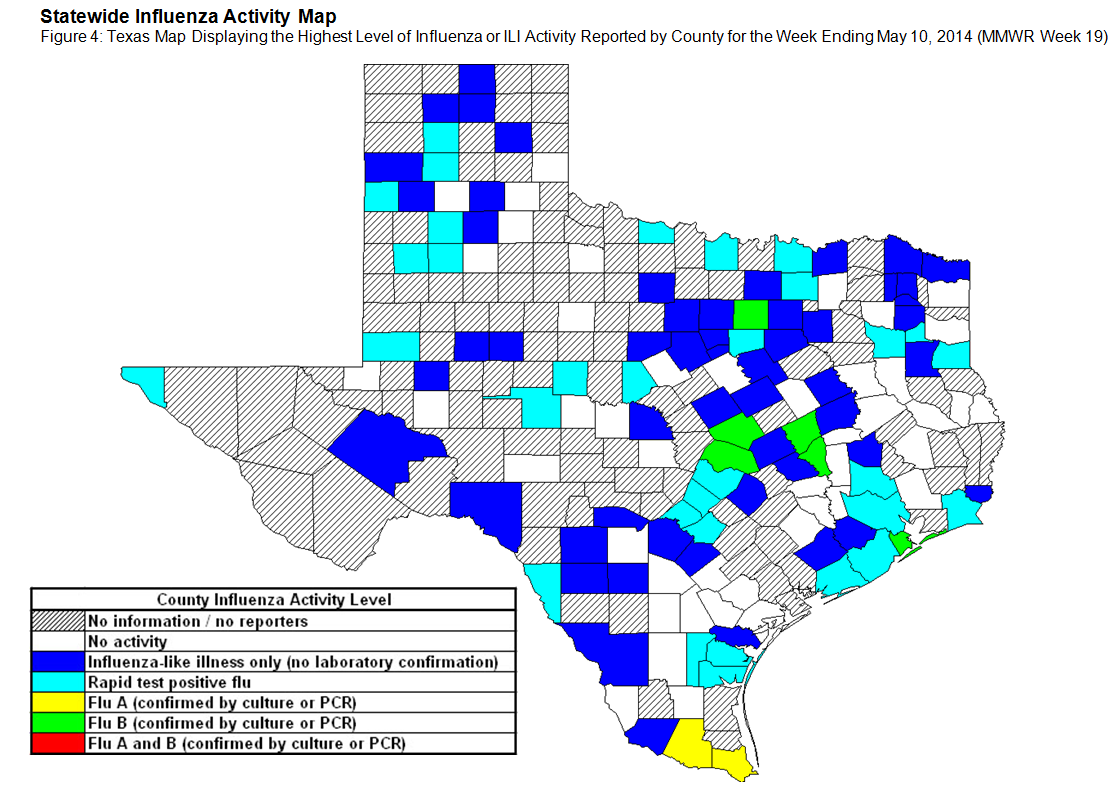 Texas Flu Map