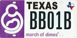 March of Dimes License Plate