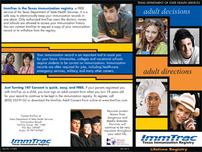 ImmTrac Brochure for Adults - side 1 (English)