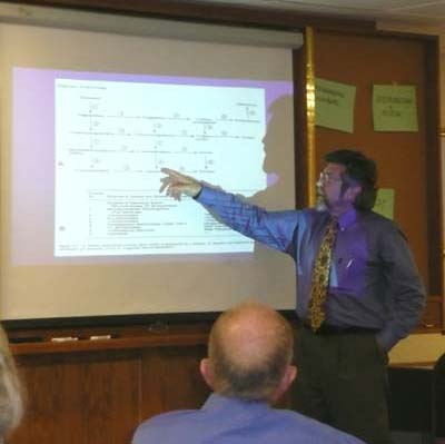 Photo of Jose Gonzalez giving a presentation