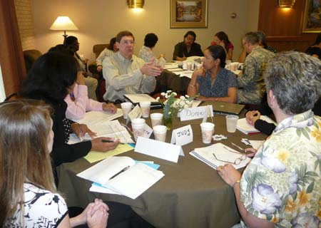 Photo of group discussion (Morgan Walthall, Charleta Guillory, Don Wilson, Donna Williams, and Judy Chrisman)