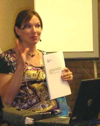 Photo of Susan Tanksley giving a presentation