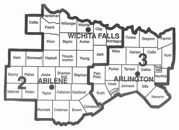 Region 2/3 County Map