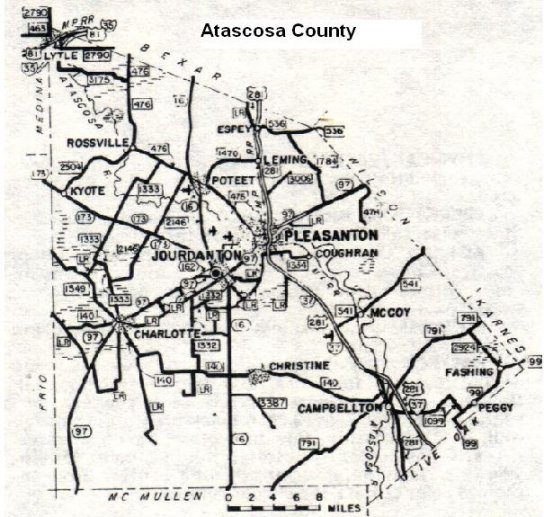Atascosa County Map