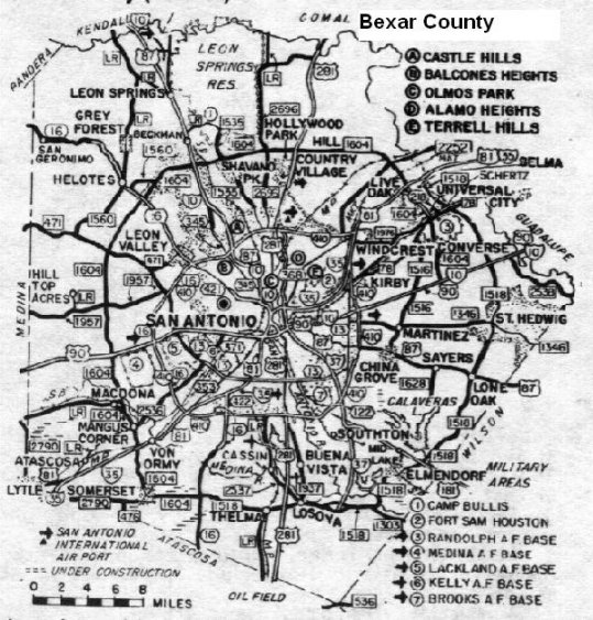 Texas Department of State Health Services, Region 8 Bexar County Map
