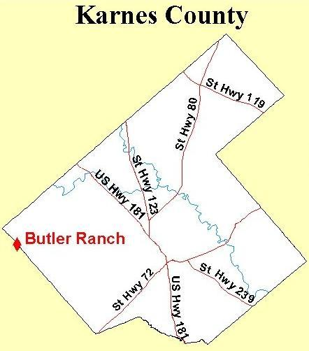 Karnes County Map