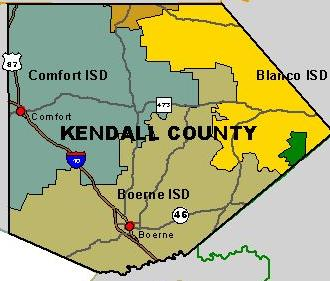 Kendall County Texas Map Texas Department of State Health Services, Region 8 Kendall County Map