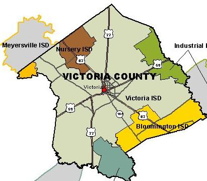Map Of Texas Victoria.Texas Department Of State Health Services Region 8 Victoria County Map