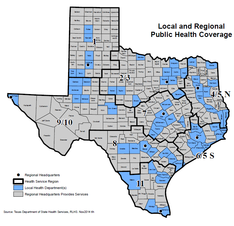 Local and Regional Public Health Coverage