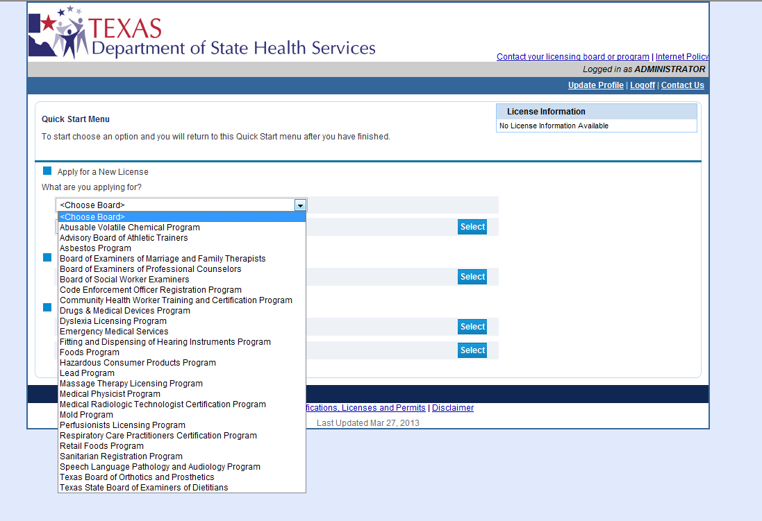 New Applications And Renewals Online Licensing Help Center
